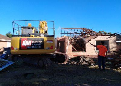 DPC Demolition Excavator DPC Labourer Hosing down site