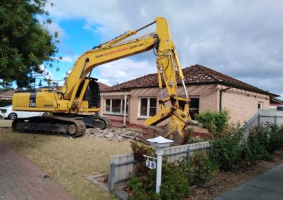Residential House Stripped Ready for Demolition to commence